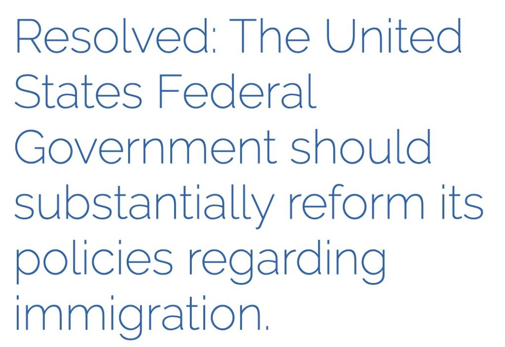Notes On Ncfca Policy Resolutions Immigration Fda Energy Policy